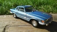 Mercedes 450SL Convertible Metal Roof Polistil S86 Italy 1:25 Pale Blue Dallas