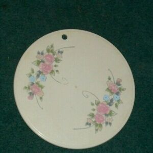 "PFALTZGRAFF TEA ROSE HOT PLATE TRIVET  WITH NORMAL WEAR  10"" Round"