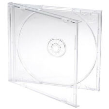 100 X Single CD Jewel Case Cases 10mm 10.4mm Clear Tray HIGHEST QUALITY PLASTIC