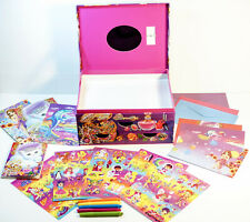 Lisa Frank Jewelry Box Purrscilla Cat With Sticker Sheets, Stationary, postcards