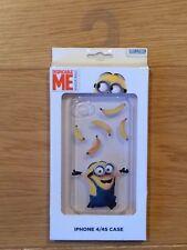 Despicable Me Minions Minion Made iPhone 4 4S Transparent Plastic Case Skin BNIB