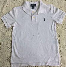 New Ralph Lauren Boys White Cotton Polo-shirt S-8Y