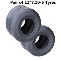 "Pair of 11x7.10-5 Go Kart Tyre 5"" Super Slick 4 Gokart Drift Trike Racing Buggy"