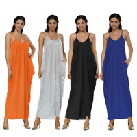 Women summer casual long maxi boho dress evening party cocktail beach sundress