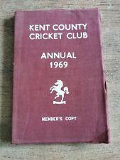 Kent County Cricket Club Annual 1969. Members Copy