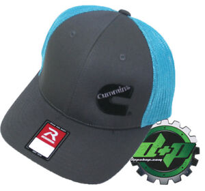 Dodge Cummins trucker hat richardson Charcoal Gray Blue mesh flex fit sm/md