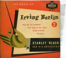 "STANLEY  BLACK ORCHESTRA - THE MUSIC OF IRVING BERLIN NO 2 - 7"" 45 EP RECORD -"
