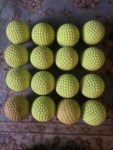"16 Jugs Sting-Free Realistic Seam 12"" Yellow Softballs Used"