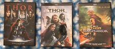 Thor Trilogy 3-DVD Set (Thor, The Dark World, & Ragnarok) - Free USPS Shipping