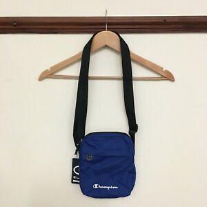 MENS CHAMPION SHOULDER ITEM BAG RETRO 90S ROYAL BLUE