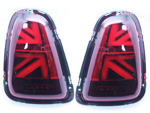 LED Tail Lights For 2010-2015 Mini Cooper R56 R57 R58 R59 - UNION JACK Red LCI
