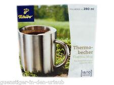 TCM Tchibo Edelstahl Thermobecher Thermo Becher 18/10 sNEU