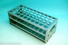 lab  aluminum test tube rack 40 tubes Φ22mm new