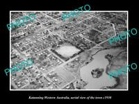OLD LARGE HISTORIC PHOTO OF KATANNING WESTERN AUSTRALIA, AERIAL OF TOWN c1930