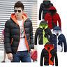 Men's Winter Hooded Thick Padded Jacket Zipper Slim Outwear Coat Warm Outwear