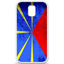 Coque housse étui tpu gel motif drapeau La Réunion Samsung Galaxy S5 i9600 g900f