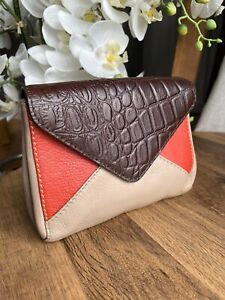 Sienna De Luca Italy genuine leather envelope purse wallet clutch bag