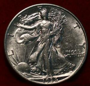 Uncirculated 1936-D Denver Mint Silver Walking Liberty Half