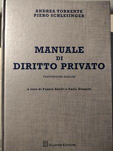 Manuale di Diritto Privato Andrea Torrente Piero Schlensigner