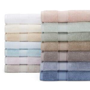 Hudson Park Supreme Egyptian Cotton Bath Sheet, Towel, Washcloth Set Grey B5034