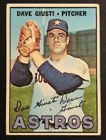 Dave Giusti Astros signed 1967 Topps baseball card #318 Auto Autograph 1
