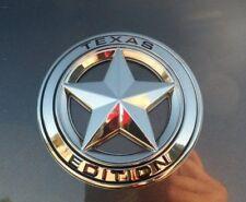 2 Texas Edition Emblem Badges Chrome - Tacoma Tundra Ford Chevy Dodge TRD Hemi