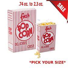 500 Case 074 Oz To 23 Oz Bulk Popcorn Box Disposable Theater Movie Commercial