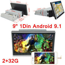 9'' 1Din Android 9.1 Car Stereo Radio Player 4G GPS Navigation Head Unit 2+32G