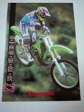 Prospectus Catalogue Brochure Moto Kawasaki KX Gamme Cross 1994