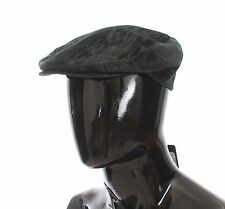 NEW $280 DOLCE & GABBANA Hat Cabbie Newsboy Cap Gray Cotton Mens s. 59 / L
