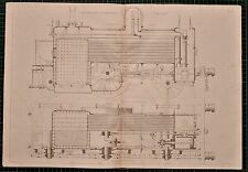 Locomotiva 1855 di stampa Vulcan Fairbairn'S IN SEZIONE TRENO MOTORE CALDAIA
