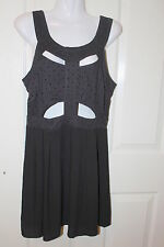 Material World by Madonna black eyelet dress size 12 NWT