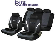 Volkswagen Bora SPORTS Fabric Car Seat Covers Full Set in BLACK & GREY