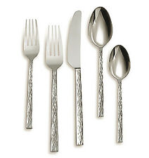Vera Wang Wedgwood HAMMERED 5 Piece Place Setting 18/10 Stainless Flatware New