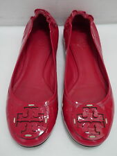TORY BURCH Reva dark pink patent leather ballet flats shoes size 6