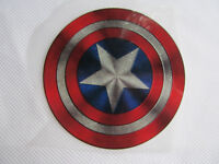 MARVEL CAPTAIN AMERICA SHIELD IRON ON SMOOTH HEAT TRANSFER PATCH CLOTHES BAGS