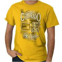 Colorado The Centennial State Map Tourist CO Short Sleeve T-Shirt Tees Tshirts