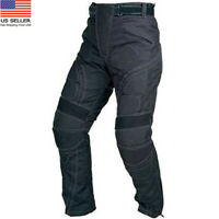 Mens Motorcycle Cordura Textile Waterproof Trousers Protective Thermal Pant