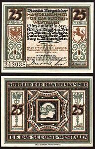 SCARCE 1920 SE WESTPHALIA CHAMBER OF COMERCE 25PF NOTE! MERCURY/REARING STALLION