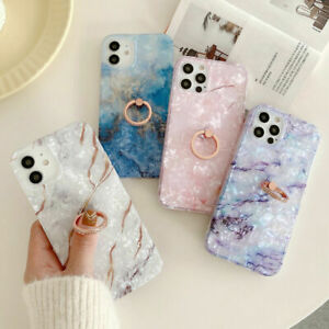 Sky Marble Phone Case Cover For iPhone 7 8 Plus XR XS 11 12 PRO MAX Ring Holder
