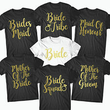 Hen Party T Shirts Hen Do Top Bride To Be Tribe Squad Personalised Print- BRD10