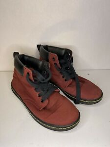 Dr. Martens MAELLY Women's Maroon Ankle Size US 7 Doc Canvas Cherry Red