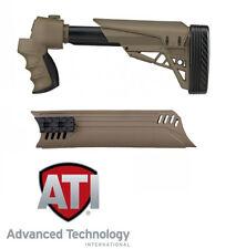 ATI MOSSBERG 500 590 Shotgun 6 Pos Side Folding Stock + Forend Dark Earth