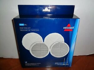 Bissell Spinwave Mop Pad Kit 2 Scrubby & 2 Soft Replacement Pads 4 Total New