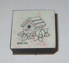 "Bird House Rubber Stamp Foam Mounted Mary Engelbreit Floral Flowers 1"" High"