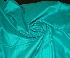 100% Natural Silk Dupioni Fabric Aqua Mint Sea Green Turquoise BY THE YARD *SALE