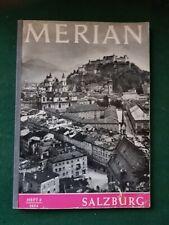 Merian Reiseführer Salzburg Heft VII/6 1954 Rarität