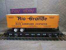 USA Train G Scale Rio Grande Flatcar & Trailer #22338