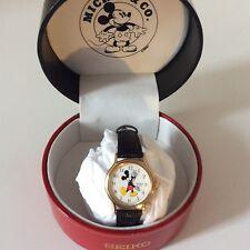 VTG Sekio Leather Disney Mickey Mouse Ladies/kids Watch
