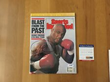George Foreman Signed AUTOGRAPHED 1989 Sports Illustrated PSA/DNA NO LABEL RARE